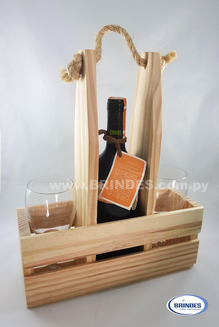 Kit Vino en Madera de Pino