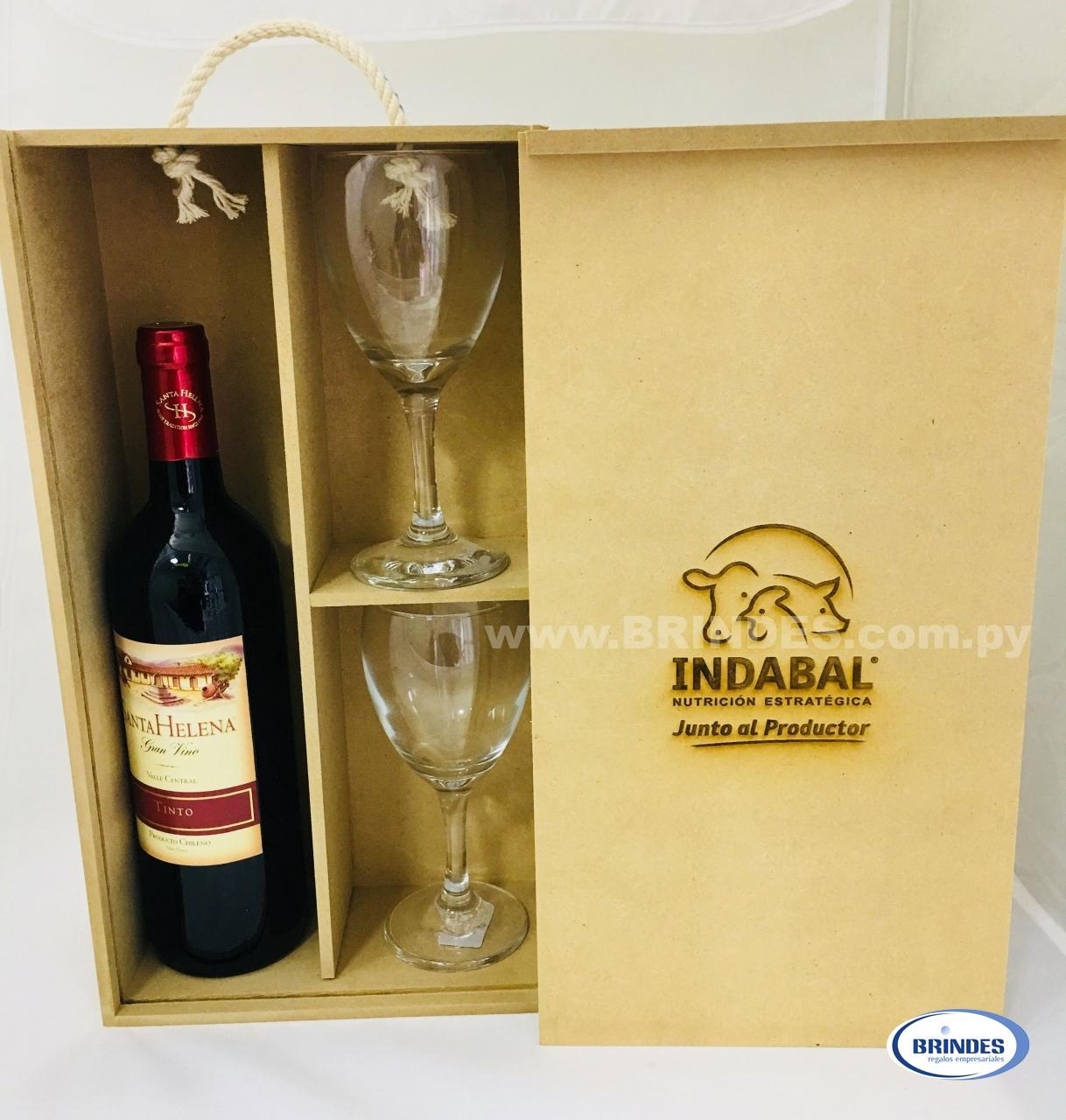 Caja Kit Vino MDF